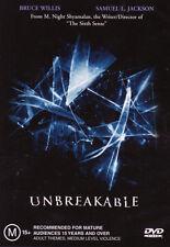 Unbreakable NEW DVD Bruce Willis Samuel L. Jackson M. Night (Region 4 Australia)