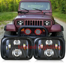 Truck accessories 5x7 LED Headlight for Jeep Wrangler YJ 1987-1995 jeep cherokee