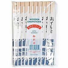 40 PAIRS CHINESE TWIN CHOPSTICKS WOODEN INDIVIDUALLY WRAPPED GENROKU KOREAN