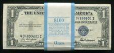 (100) CONSECUTIVE 1935-F $1 ONE DOLLAR SILVER CERTIFICATES GEM UNCIRCULATED