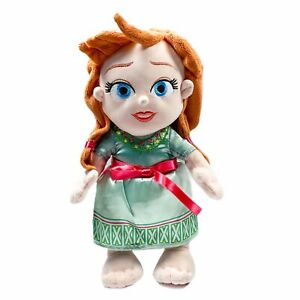 Disney Parks Babies Frozen Princess Anna Toddler Plush 12in Stuffed Doll Toy
