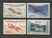 France POSTE AERIEN SERIE N° 30/33 PROTOTYPES de 1954 Neufs** Cote 400€
