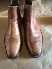 Mens DUNE Tan Brown Leather Chelsea Dealer Boots, Size Eu 43 UK 9, RRP £120