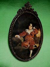 Vintage ornate Italian frame & print of ' Master Lambton ' '  The Boy in Red   '