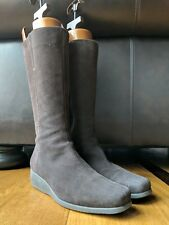 35e4f2faeb7d LA CANADIENNE Womens Chocolate Brown Suede Side Zip Boot Bootie SIZE 7.5 M