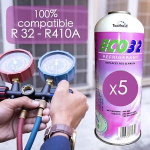 5 Gaz R32 Réfrigérant ECO32 compatibles R32, R410A, Gaz R32 pour climatisation