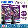 Philips Vision Plus +60% P21W P21/5W Stop Light Tail Light Bulbs (Twin Pack)