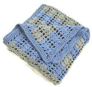 Handmade Crochet Granny Knit Acrylic Afghan Knitted Throw Blanket 55 x55