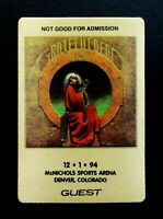 Grateful Dead Backstage Pass Denver Colorado 12/1/94 12/1/1994 Blues For Allah