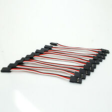 10pc 100mm JR servo Extension Cord Cable Wires for RC Female TO Female Accessory