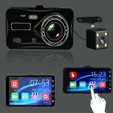 "In Car Camera Recorder Dual Front and Rear HD 1080P 4"" Dash Cam Night Vision UK"