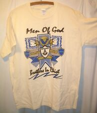Freemasonry Masonic Men of God Brothers in Christ Shirt sz L Exc pre-owned cond