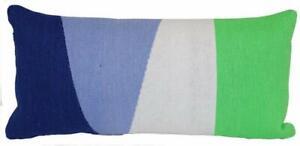 Outdoor Throw Pillow Lumbar - Woven Colorblock Cool - Project 62