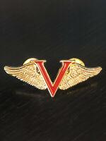 Vintage Collectible Victory Pin 2016 Ltd Ed Besame Wings Colorful Metal Pinback