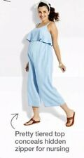 Women's Isabel Maternity by Ingrid & Isabel Chambray Jumpsuit Light blue New