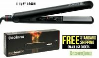"Solano Sleek Heat 450  1-1/4"" 1.25 Professional Ceramic Tourmaline Flat Iron NEW"
