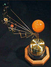 Orrery: Handcrafted Clockwork Solar System, Brass or Semi-Precious Stone Planets