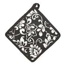 Manoplas y agarradores de cocina color principal negro 100% algodón