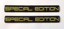 2 X Amarillo Edición Especial En Negro STICKER/DECAL-acabado de alto brillo abovedado Gel