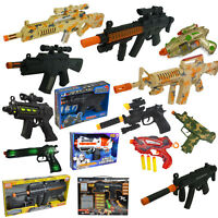 Toy Gun Plastic Police Army Machine Gun Styled Kids Childrens War Game Toys