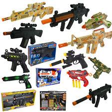 Toy Gun Plastic Police Army Machine Gun Styled Kids Childrens War Game Toys