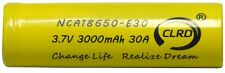 Replacement Up-rated 18650 3.7 Volt 30 amp Lithium-ion Rechargeable Battery
