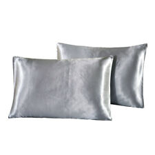 Blesiya 2x Luxury Mulberry Silk Like Anti-age Pillowcases For Hair Facial Health