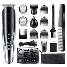 Hatteker 5IN1 Men Beard Trimmer Body Mustache Hair Trimmer Nose Ear Grooming Kit