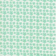 Country Garden Collection Flowers white turquoise print Fabric Freedom material
