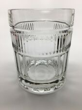 """ANCHOR HOCKING """"ANNAPOLIS"""" DOUBLE OLD FASHIONED 4"""" - USA - PANELS, VERTICAL CUTS"""