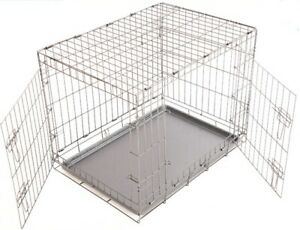 SPP Exports Dog Cage (Crate)Stainless Steel No. L-36 Inch,W-24 Inch,H-15 inch