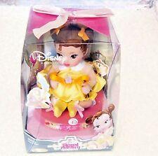 Disney Royal Nursery Belle Porcelain Doll / Brass Bell Keepsake