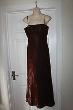 Ladies Brown Morgan & Co Shimmer Ball Gown Size 10 Prom Bridesmaid Dress