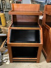 Wood Commercial 32 X 32 Bakery Bread Bagel Produce Grocery Display Stand