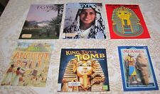 Ancient Egypt History Lot: King Tut's Tomb Curious Kids Guide Mummies 6 Books