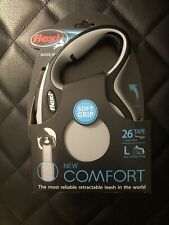 Flexi New Comfort Retractable Dog Leash (Tape) 26 ft Large - Grey