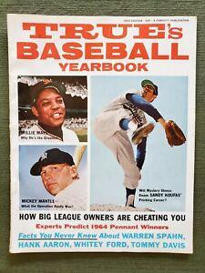 1964 True's Baseball Yearbook magazine, very good