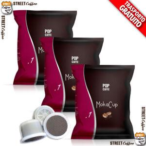 100 CAPSULE CIALDE CAFFE POP Caffè 1 INTENSO MOKACUP COMPATIBILI DOMO TERMOZETA