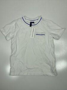 Janie and Jack Boys Pocket Polo Shirt White Size 5
