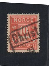 "Norway #J3, postage due stamp with ""Christ"" cancel. Socked-on-the-nose Cancel"