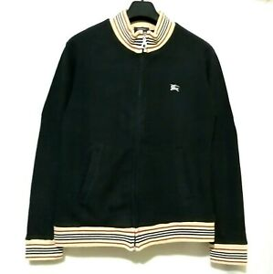 Burberry Zipped Jacket with  iconic classic striped trim