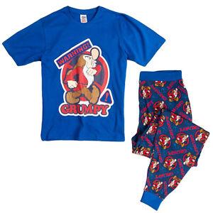 Mens Disney Mr Grumpy Pyjamas Pjs PJ Size S M L XL  Nightwear Pajama Gift