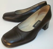 Bally GUAVIARE Womens Shoes Heels US 5 M Brown Leather Dress Work Casual ITALY