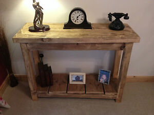 BESPOKE HANDMADE RUSTIC FARMHOUSE STYLE CONSOLE TABLE - ANY SIZE 07985 161977