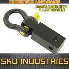 Recovery Hitch 4WD 5T Rated Off-Road Recovery Kit with Yellow Pin Bow Shackle