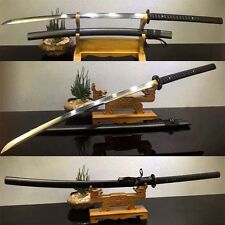 "47""Japanese 1095 CLAY TEMPERED Steel Samurai Katana Sword FULL Tang Sharp Blade"