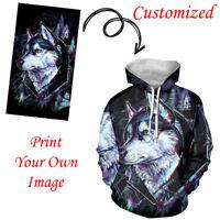 Custom Design Unisex Hoodies Pullover Sweatshirts for Men Women Teenagers Tops