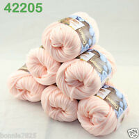 Sale Lot 6ballsx50g Soft Worsted Cotton Chunky Bulky Hand Knitting Shawl Yarn 05