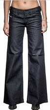 DIESEL YBO Low-Rise Wide Leg Dark Wash Jeans Size  27 x 32