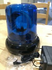 POLICE LIGHT BLUE & ROTATING - KIDS BEDROOM - PARTY - DISCO + SPARE BULB (NEW)